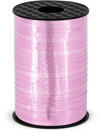 Wstążka plastikowa metalizowana do balonów j.różowa 5mm 225m PRM5-081