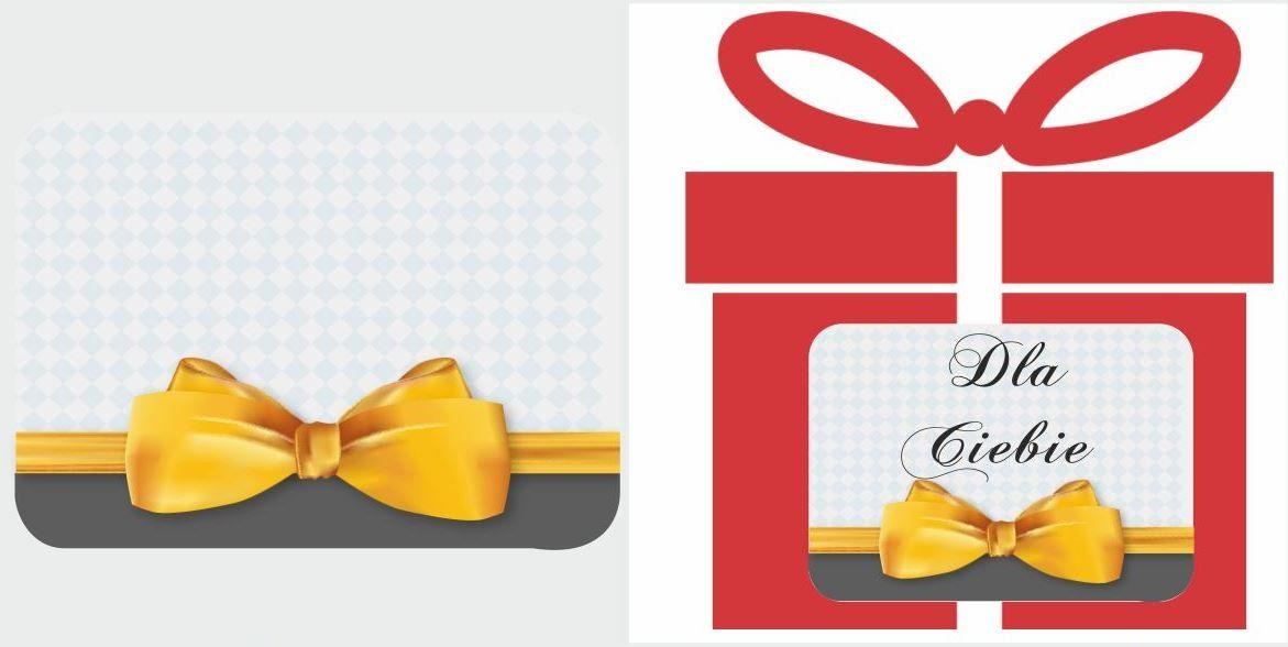 Etykiety na prezent z żółtą kokardą