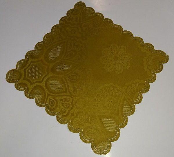 Obrus plamoodporny 28x28 serwetka złocista oliwka wzorzysta niska cena