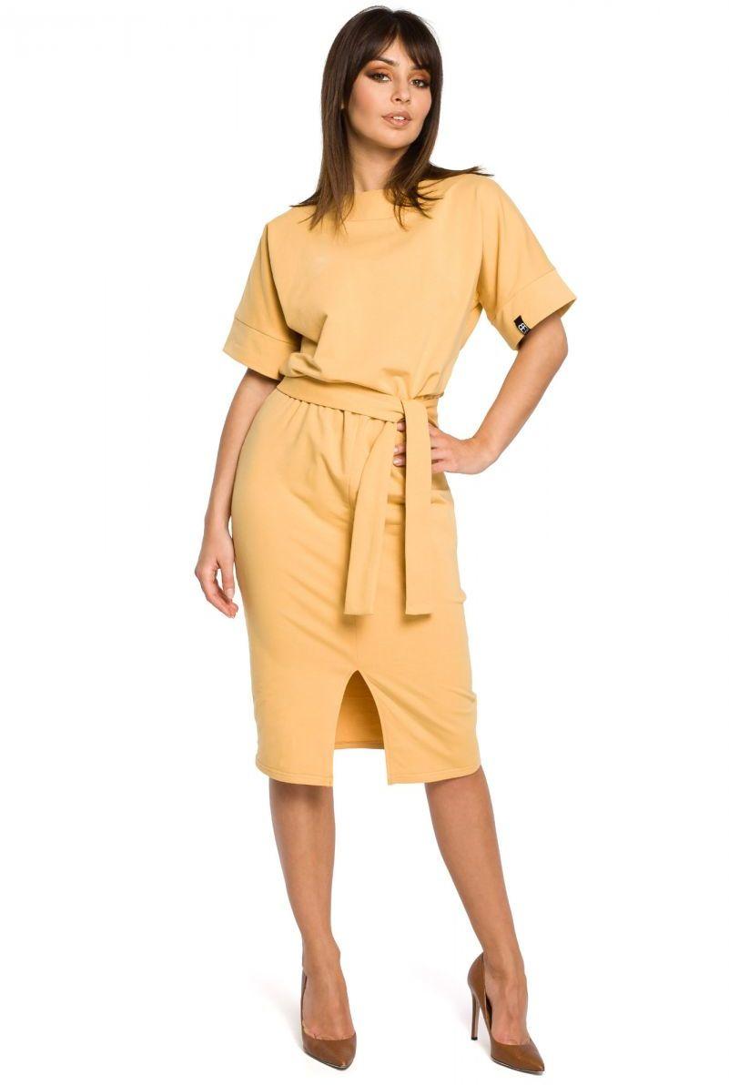 B062 sukienka żółta