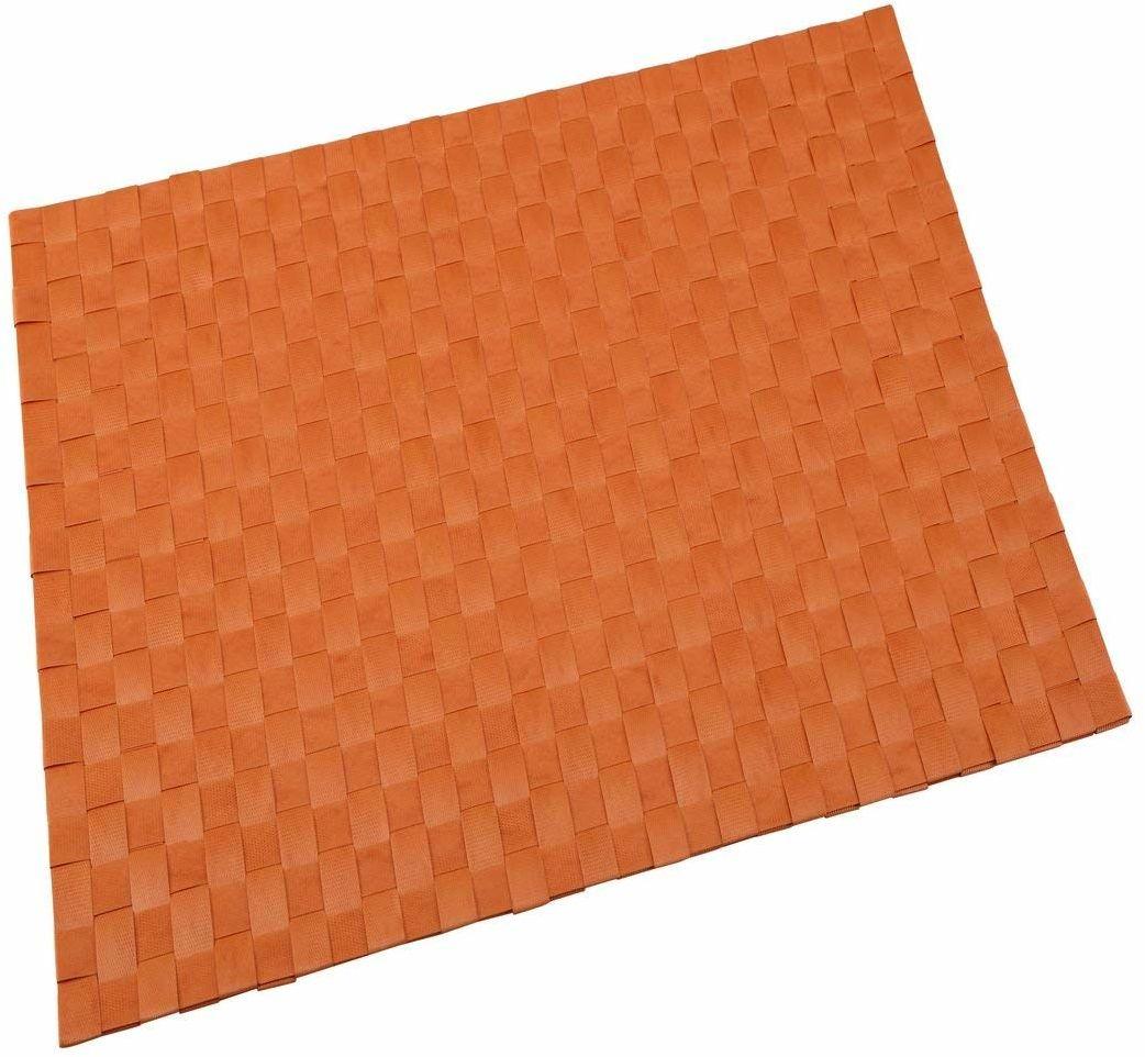 Renberg Cuadrado obrus, poliester, pomarańczowy, 30 x 45 x 30 cm