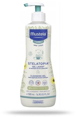 Mustela Stelatopia żel do mycia 500 ml