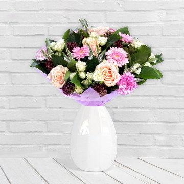 Pastelowa subtelność - Bukiet kwiatów