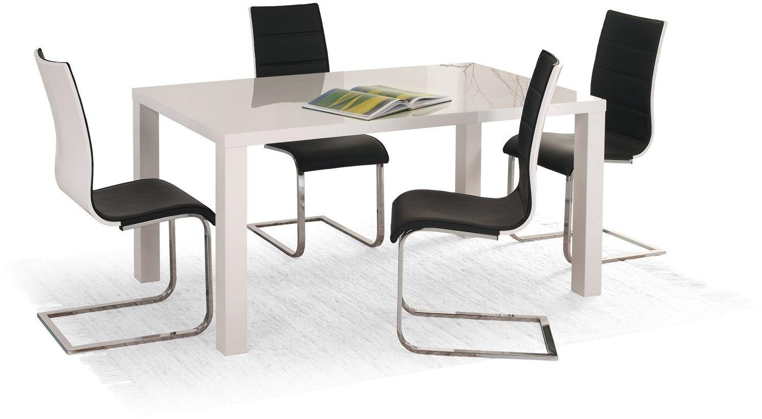 Zestaw: stół Ronald (120x80) i 4 krzesła K104 Halmar