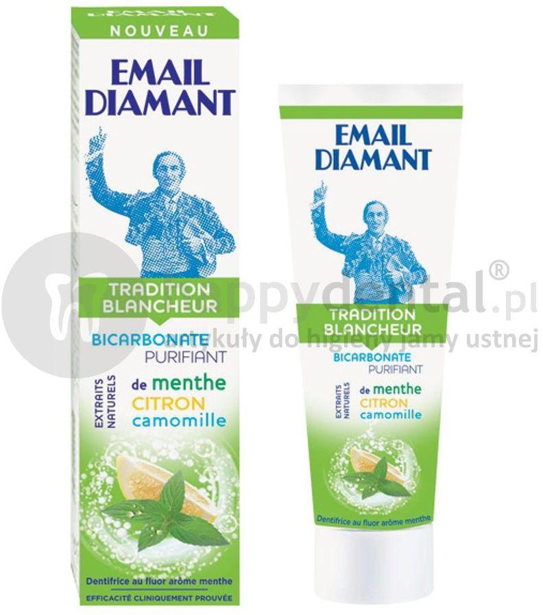 EMAIL DIAMANT Tradition Blancheur 75ml wybielająca pasta do zębów z miętą, cytryną i rumiankiem