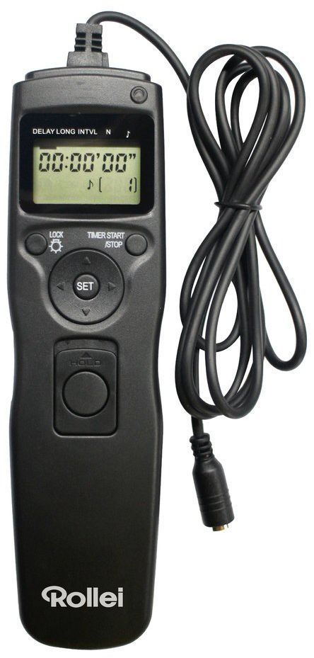 Rollei wyzwalacz kablowy - łatwa obsługa, podświetlany wyświetlacz LCD - czarny, Nikon, czarny