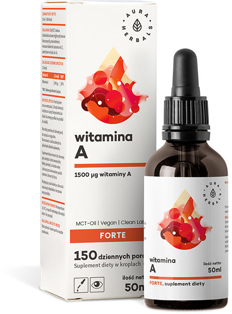 Witamina A Forte MCT-Oil, Aura Herbals, 50ml