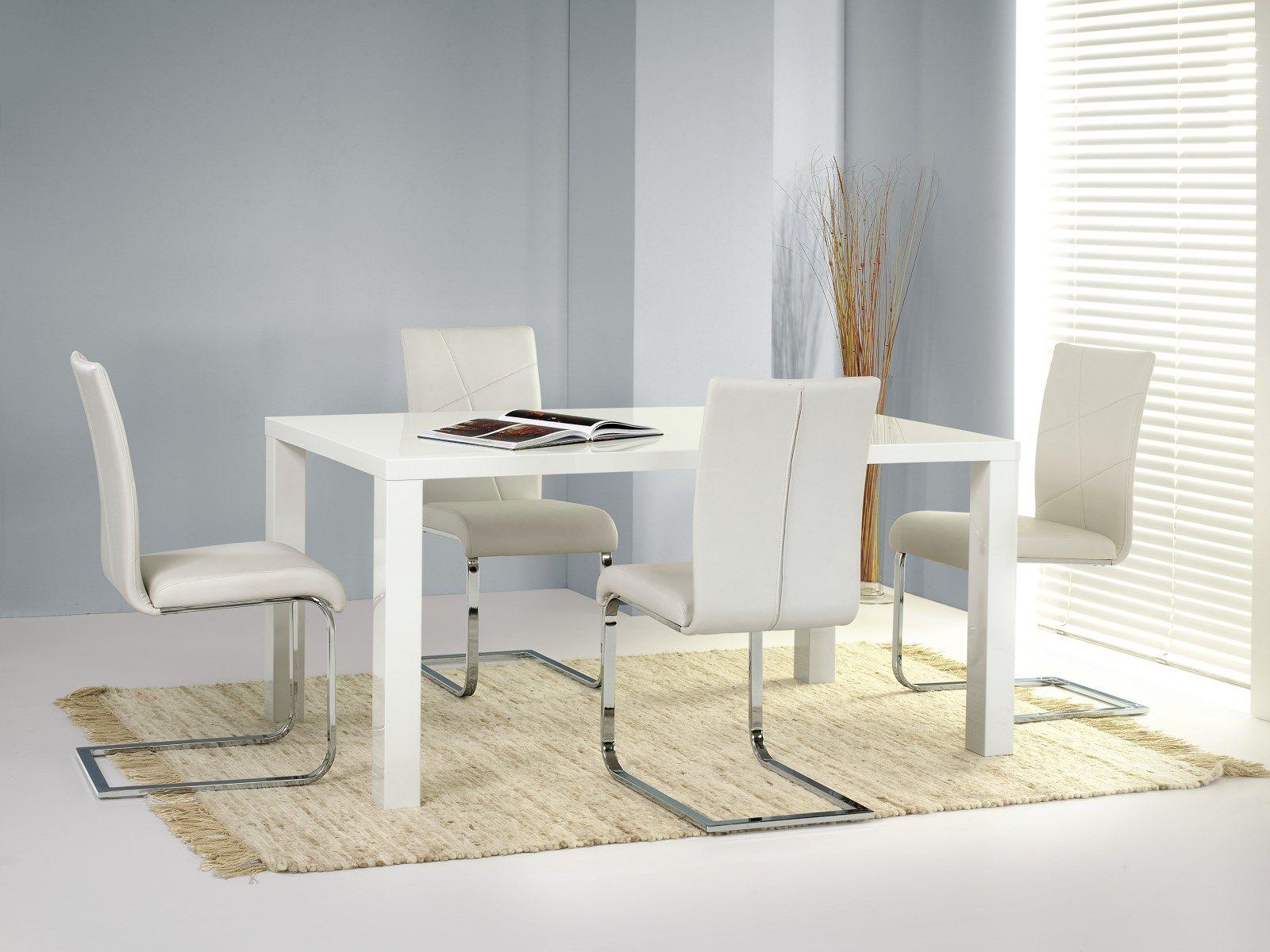Zestaw: stół Ronald (120x80 cm) i 4 krzesła K108 Halmar