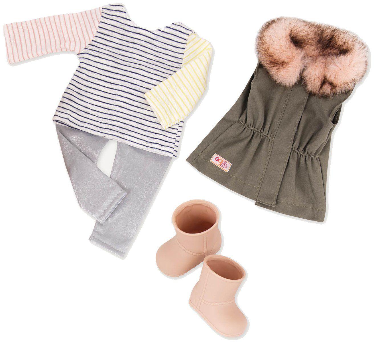Our Generation BD30314 Zabawne futrzane ubrania dla lalek, różne