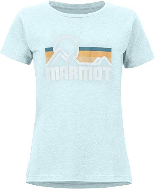 Marmot damska koszulka na świeżym powietrzu z krótkim rękawem, Corydalis Blue Heather, X-Small