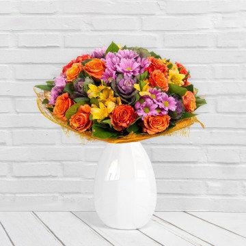 Eksplozja barw - Bukiet kwiatów