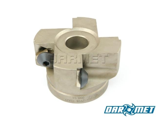 Frez składany nasadzany 80 mm, walcowo-czołowy 4-ostrzowy, TPKN, TPKR (FA90TP22)