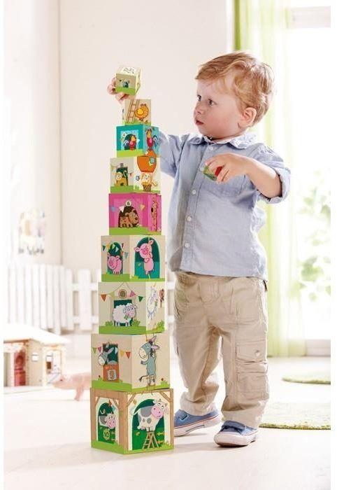 """Klocki dla dzieci, """"Na farmie"""", Haba - klocki dla rocznego dziecka"""