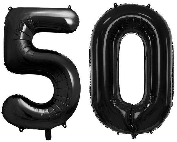 Balony foliowe 50 czarne 86cm FB1M-50-010