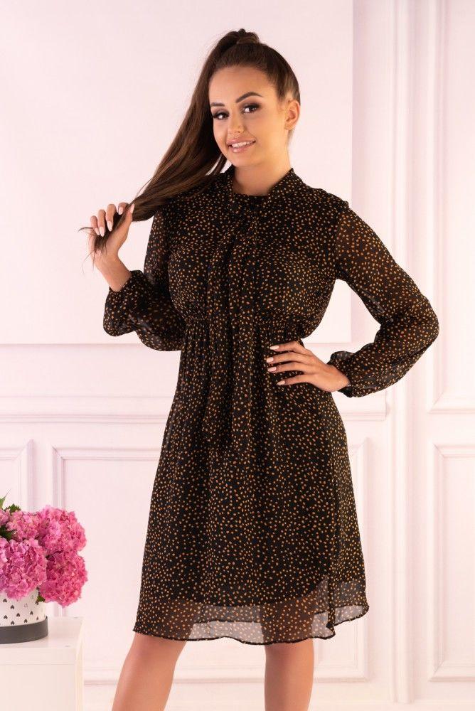Alinga Brown Dots F19-D68 sukienka