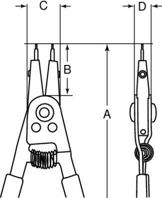 zestaw 3szt. szczypiec Seger''a do pierścieni wewnętrznych i zewnętrznych, Bahco [9938]