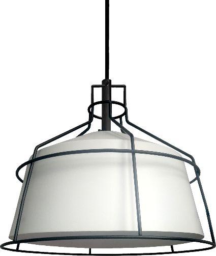Light Prestige Dritto LP-123/1P M WH lampa wisząca metalowa rama klosz biały 1x60W E27 31,5cm
