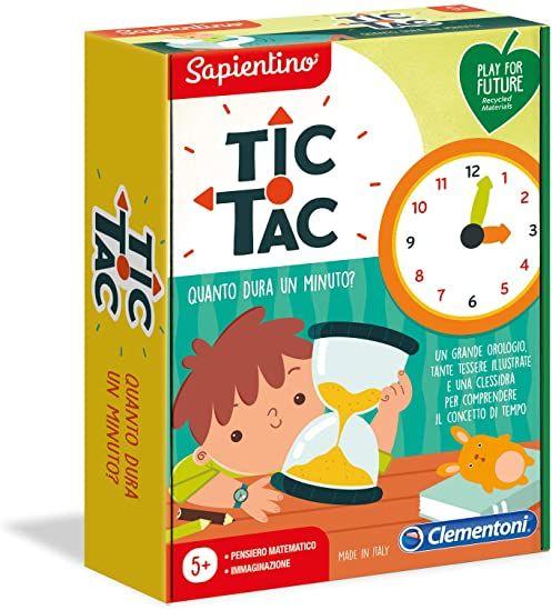 Clementoni 16244 Zznasz emocje, aby uczyć się tak długo, jak minutę - Made in Italy-Play for Future Uhr, gra edukacyjna 5 lat