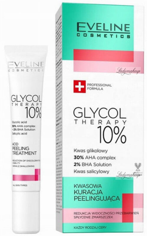 Eveline Cosmetics - GLYCOL THERAPY 10% - Acid Peeling Treatment - Kwasowa kuracja peelingująca - 20 ml