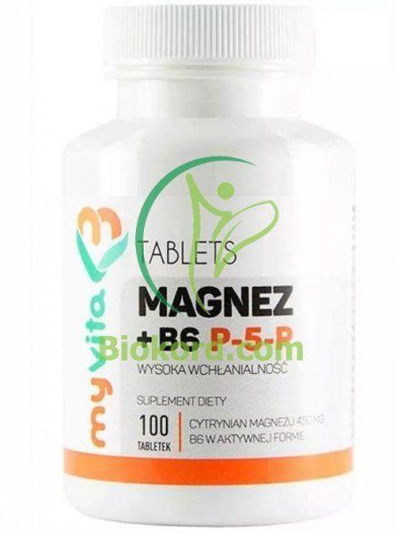 Magnez + Witamina B6 P-5-P Tabletki, MyVita