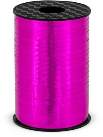 Wstążka plastikowa metalizowana do balonów różowa 5mm 225m PRM5-006