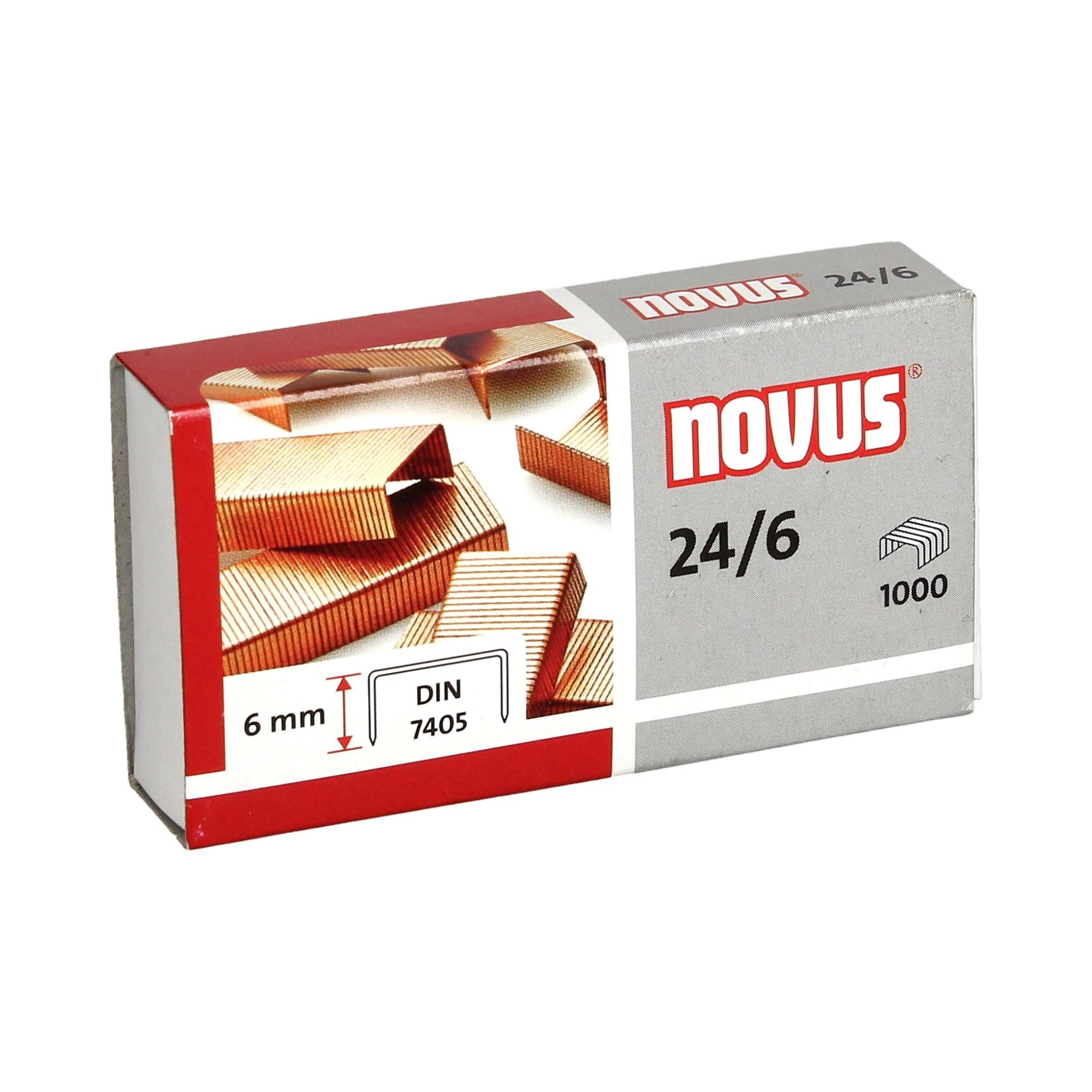 Zszywki 24/6 miedziowane (1000) Novus