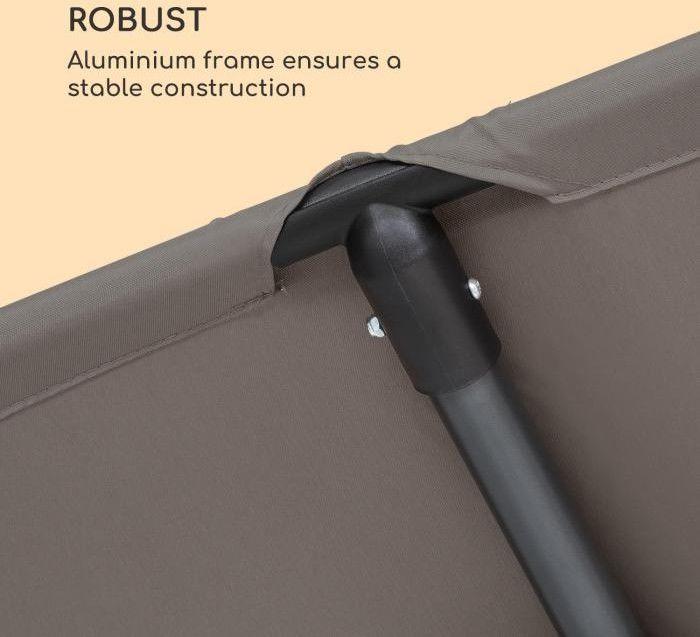 Blumfeldt Flex-Shade XL, parasol przeciwsłoneczny, 150 x 210 cm, poliester, UV 50, ciemnoszary