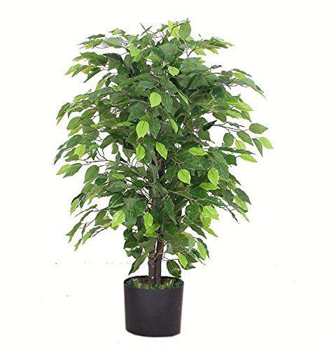 Leaf Design Sztuczna Roślina, Bushy Ficus Tree, Wielokolorowy, 90cm