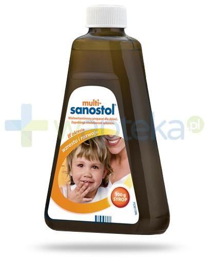 Multi Sanostol syrop witaminowy z wapniem dla dzieci powyżej 1 roku życia 300 g