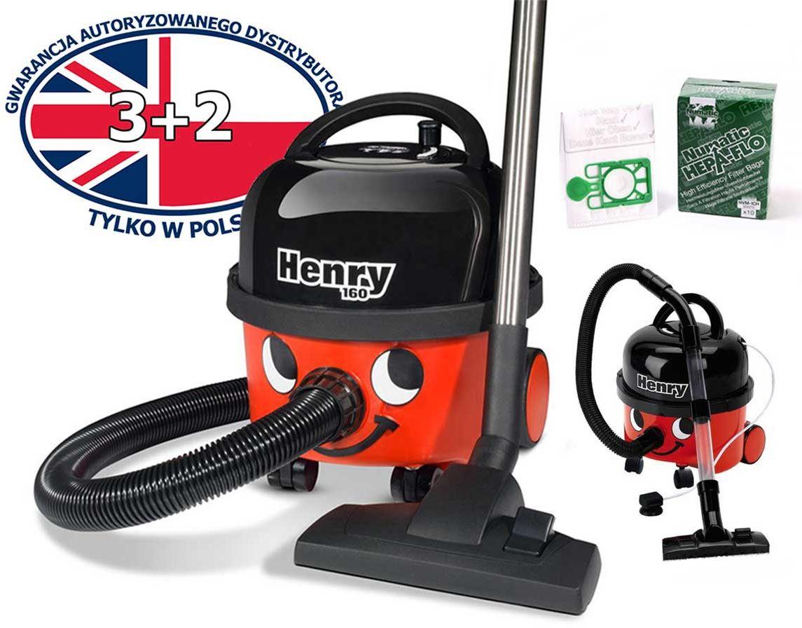 Odkurzacz Numatic HVR 160 Henry na sucho + worki + zabawkowy Henry