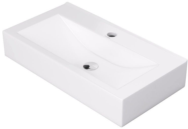 Massi Lano umywalka nablatowa 60x30cm biała MSU-5887B