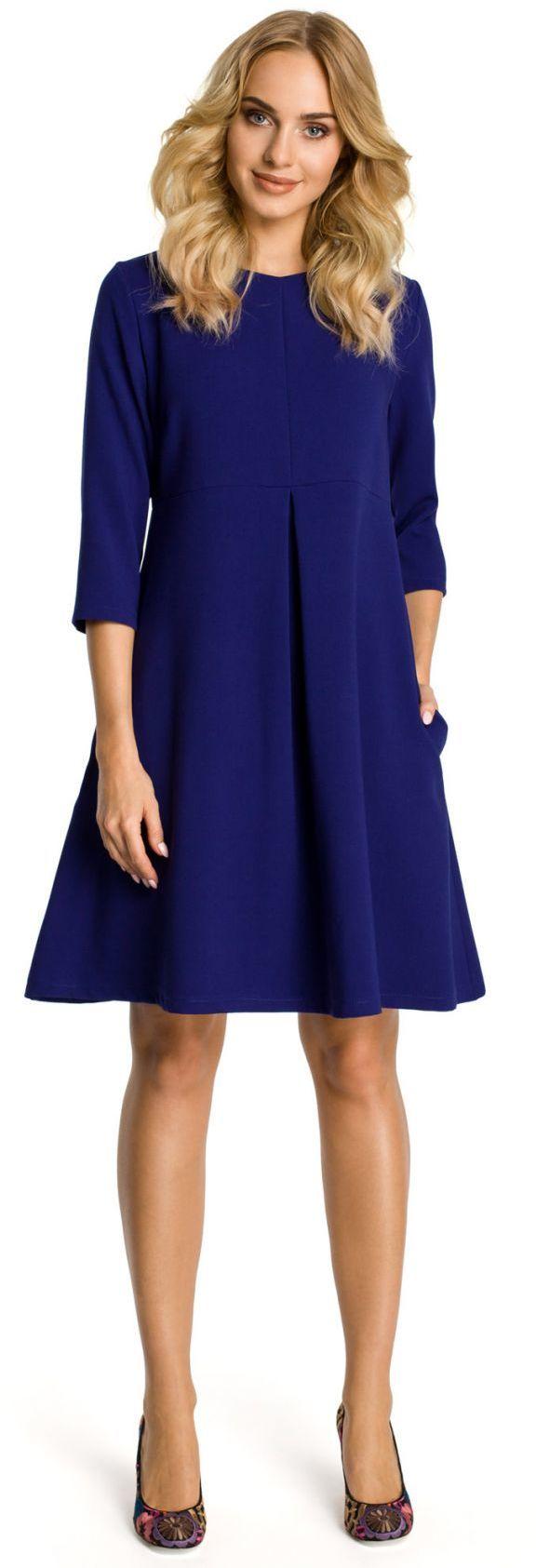 M338 sukienka chabrowa