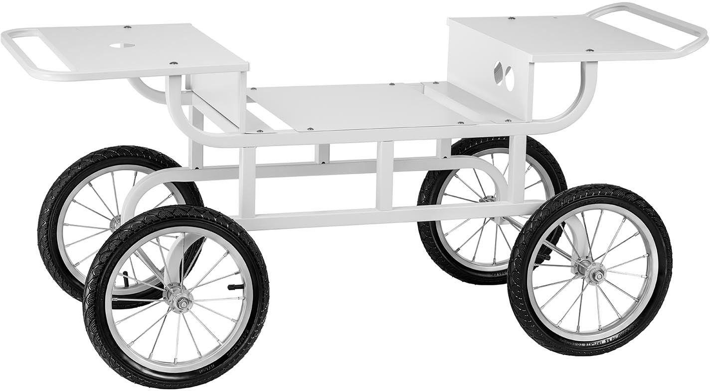 Wózek do waty cukrowej - 2 półki - Royal Catering - RCZT-01W - 3 lata gwarancji/wysyłka w 24h