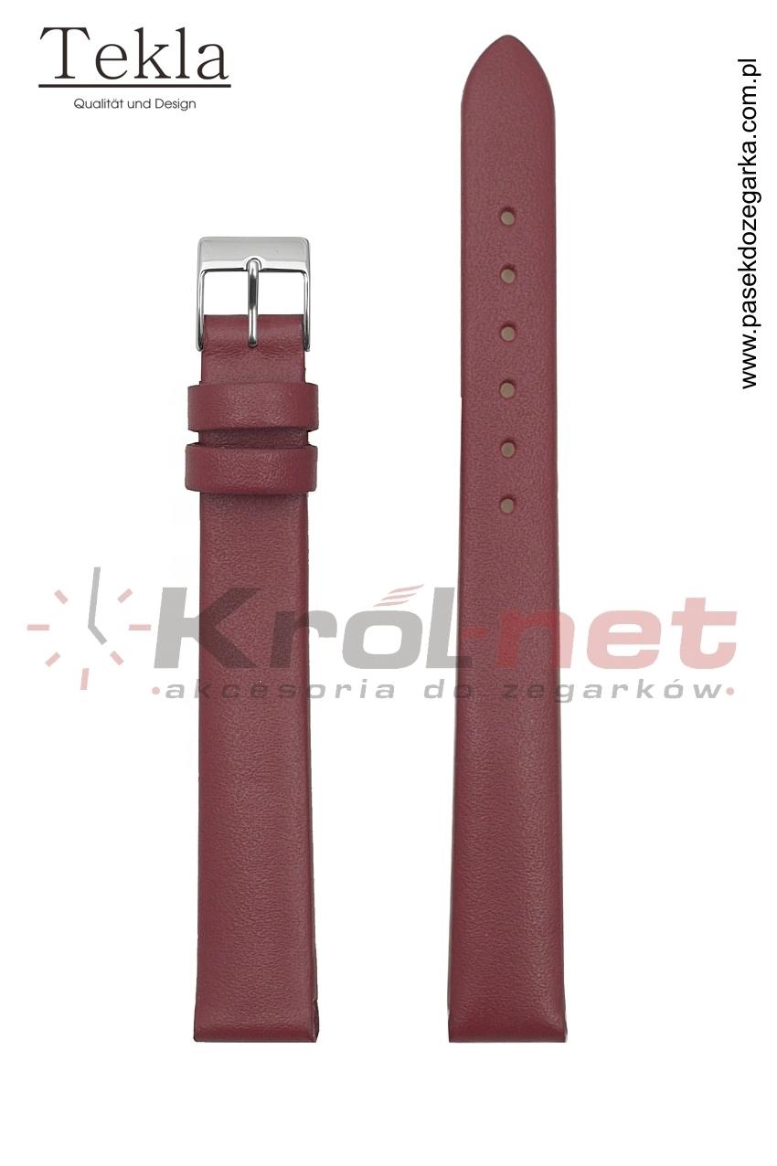 Pasek do zegarka TK126WIS/14 - gładki, wiśniowy