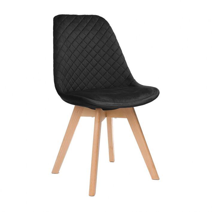 Krzesło tapicerowane ART133C czarny welur