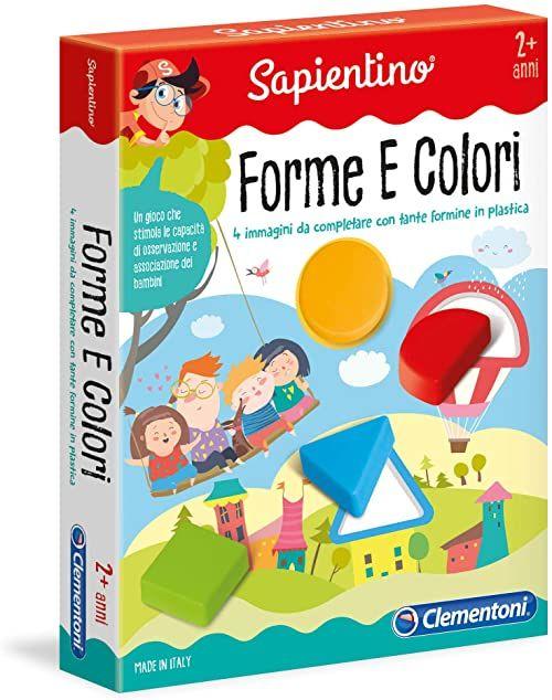 Clementoni 11955  kształty i kolory gry edukacyjne (Forme e Colori) wielokolorowe