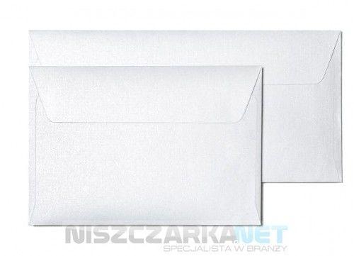 Koperta / koperty ozdobne kwadrat158x158mm KW158 MILLENIUM DIAMENTOWA BIEL opk 10szt 120g/m2