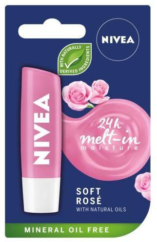 Nivea Soft Rosé pielęgnująca pomadka do ust 4,8 g