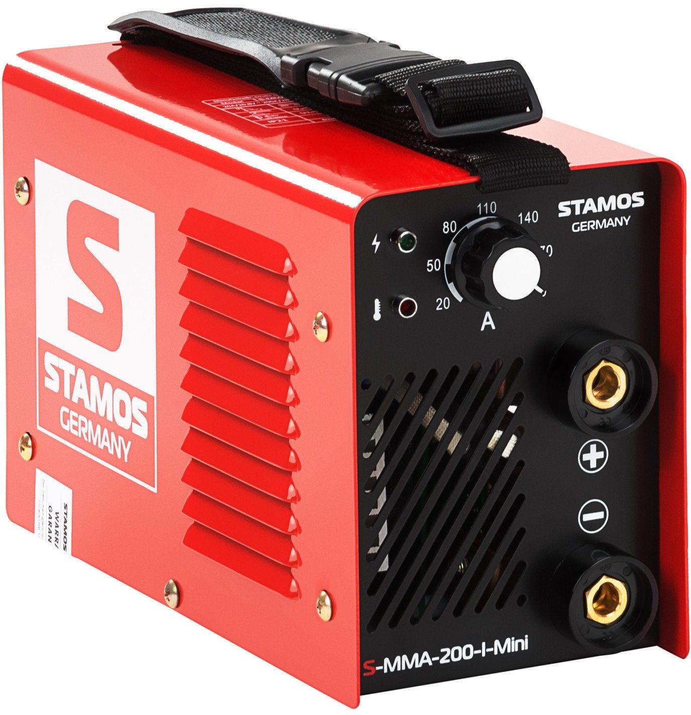 Spawarka MMA - 200 A - 230 V - IGBT - Stamos Basic - S-MMA-200-I-Mini - 3 lata gwarancji/wysyłka w 24h