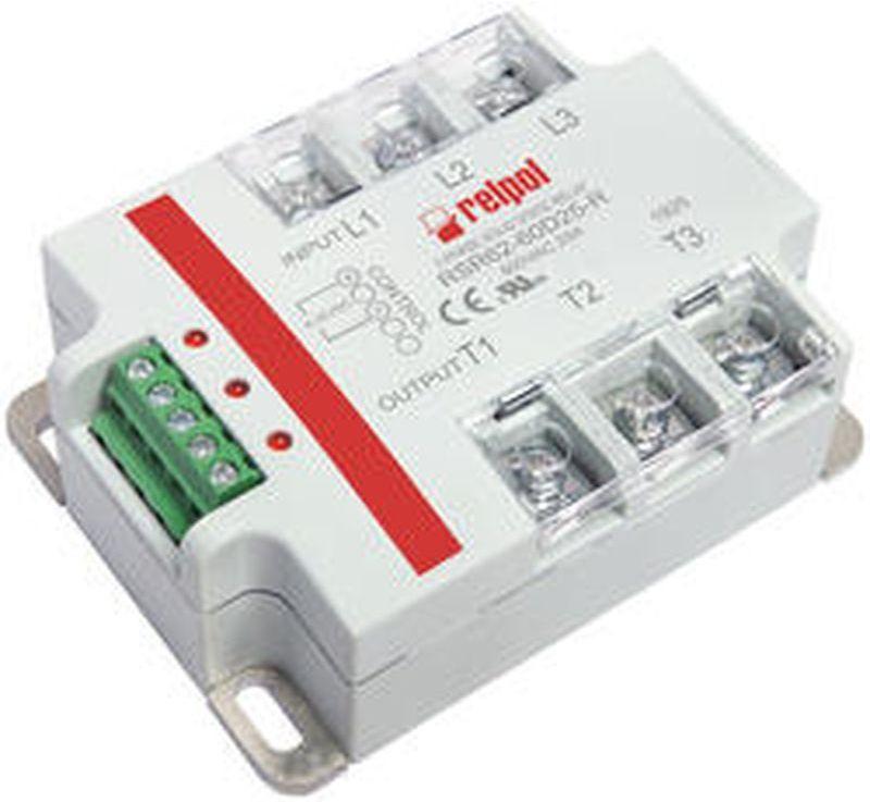 Przekaźniki półrzewodnikowe trójfazowe 480V AC 90-280V AC AC3 25/480V AC RSR62-48A25 2615959