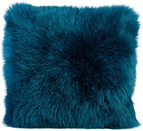 Gözze poszewka na poduszkę z owczej skóry, 40 x 40 cm, petrol, 40149-54-4141