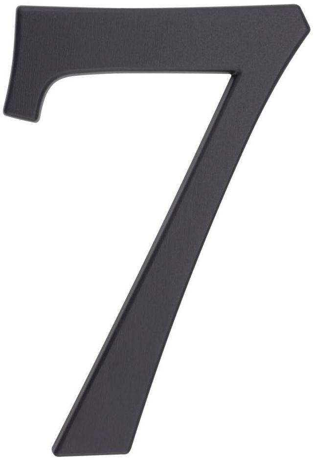 Cyfra 7 wys. 19 cm aluminiowa grafitowa