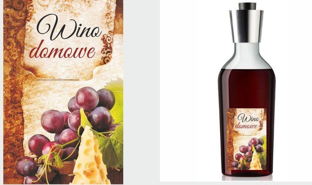 Etykiety na wino domowe z plastrem sera