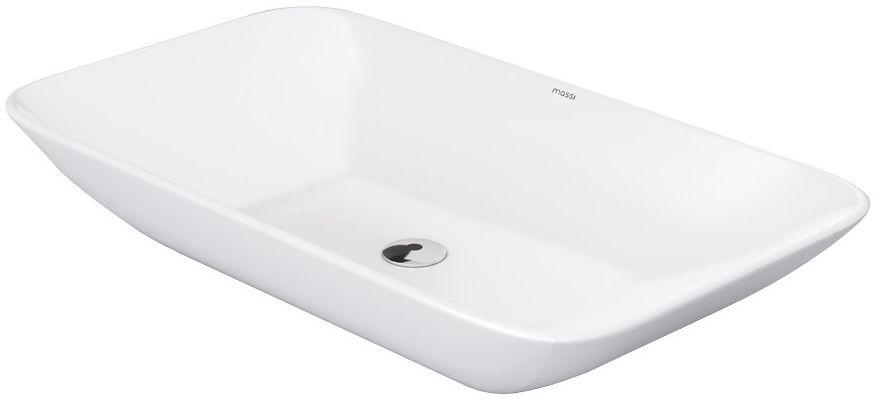 Massi Shall umywalka nablatowa prostokątna 70x38 cm biała MSU-5182