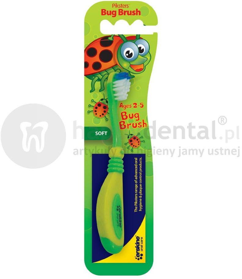 PIKSTERS BUG Brush szczoteczka do zębów dla dzieci 2-5 lat - BIEDRONKA