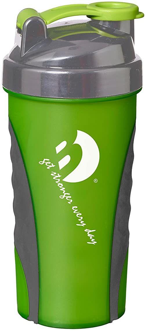 Best Sporting Bidon z shakerem Protein Shaker Mixer butelka na napoje z pirałem, 600 ml, nie zawiera BPA, różne kolory: zielony/czarny