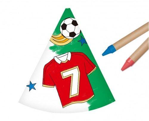 Czapeczki papierowe Pokoloruj Sam, Piłka Nożna
