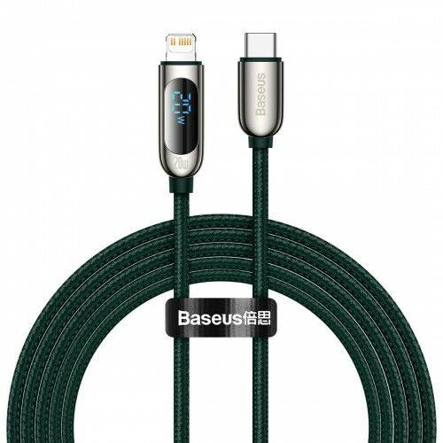 Kabel Baseus Display 20W USB-C do Lightning 2m, zielony
