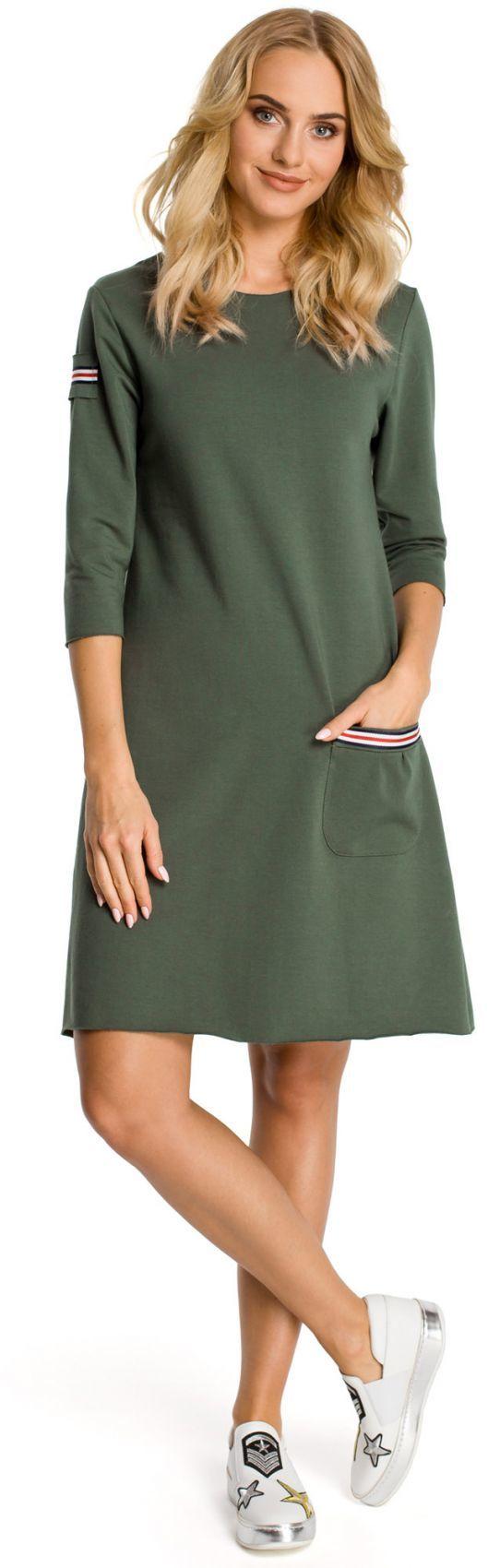M343 sukienka khaki