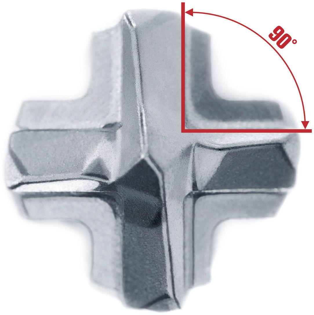 wiertło widiowe do betonu zbrojonego SDS+ z 4 krawędziami tnącymi F8, 6-260/200 ALPEN [836006001]